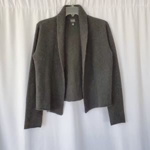EILEEN FISHER 100% cashmere size S open cardigan